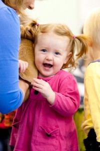 Toddler at Kindermusik with Ali, music class for babies, toddlers and preschoolers in Haslemere, Surrey
