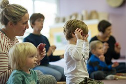 Kindermusik Family Time Class for babies and toddlers in Haslemere, Surrey